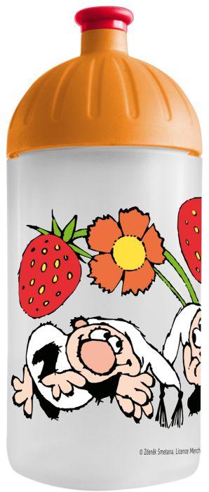 FreeWater lahev 0,5l Křemílek+Vo.,JAHODY-oranžová