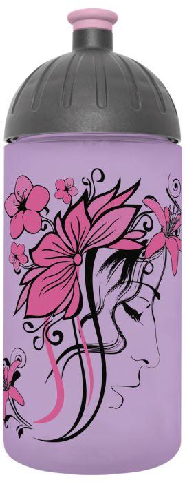 FreeWater lahev 0,5l BEAUTY lila transpar.