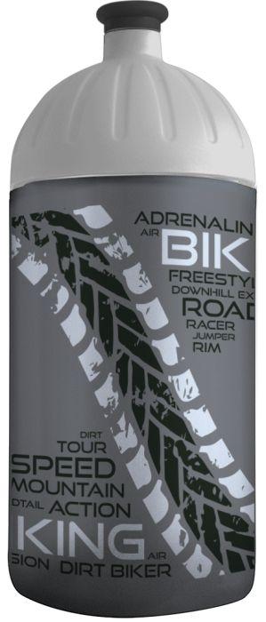FreeWater lahev 0,5l BIKER antracit-stříbrná