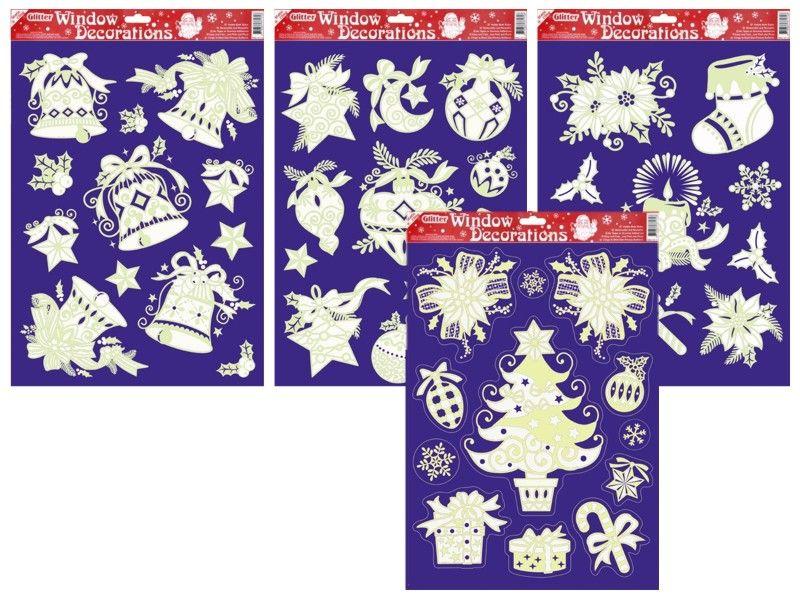 dekorace vánoční 20x30cm na okna,svítící
