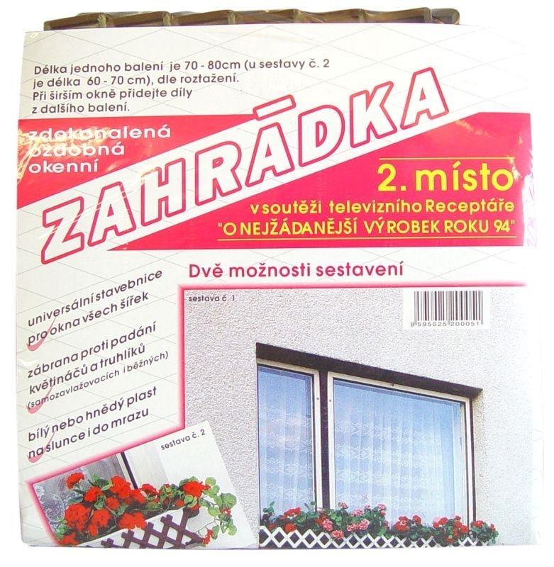 zahrádka okenní HNĚDÁ 70-80cm, plast