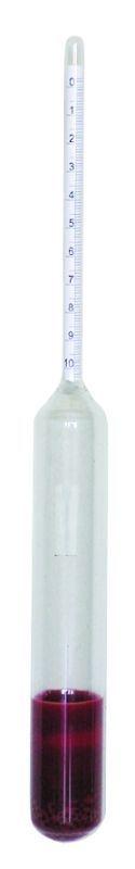 cukroměr, 0-20% /0-10%/, děl.stup. 1%, 21,5cm