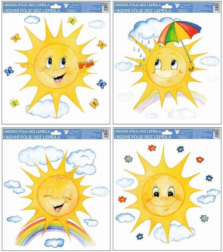 dekorace Sluníčka 30x30cm, ruč.mal., okenní
