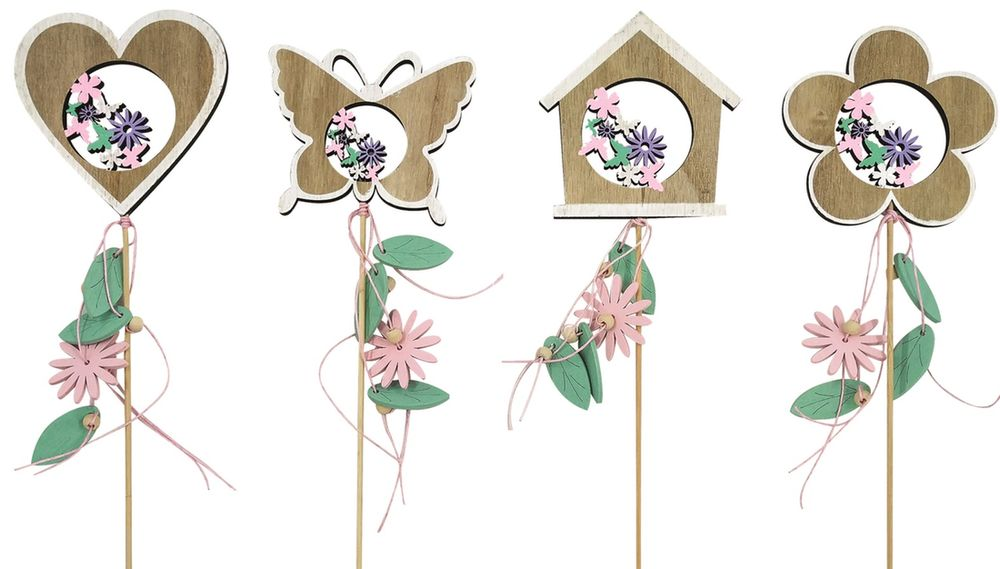 dekorece Jarní dřevěná 10 cm, zápich