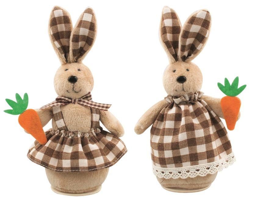 dekorace Zajíc v šatech 16cm, na postavení