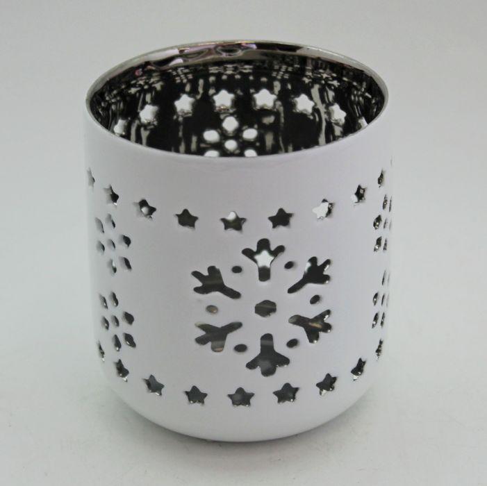 svícen d 7,5/v. 8,5cm, bílý, porcelán