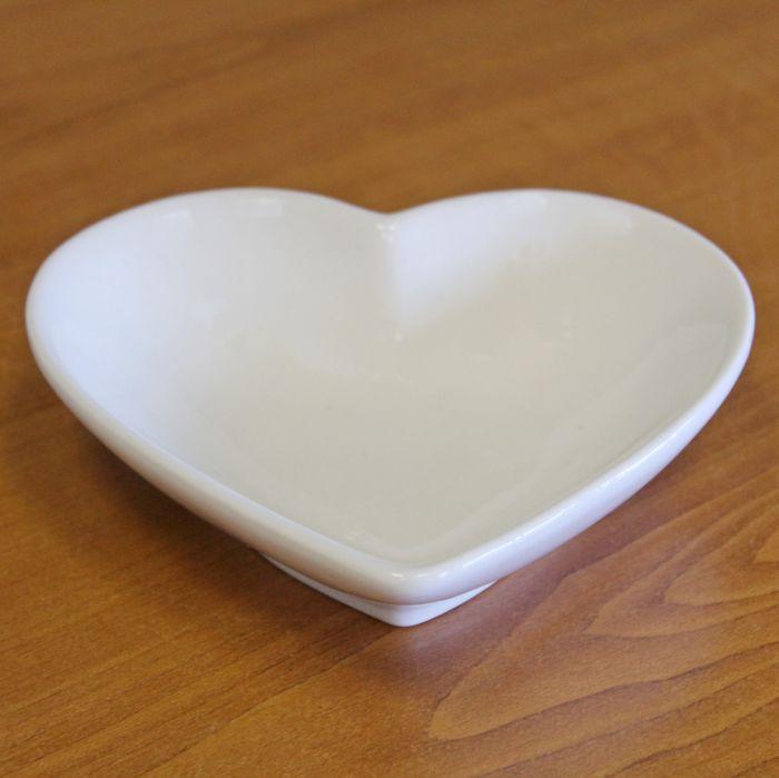 miska Srdce bílé 14,5x13cm, porcelán