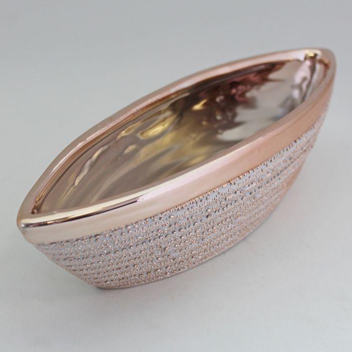 miska gondola 21,5x7,5cm, v.5,8cm červ., zlato, keramika