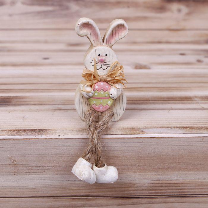 dekorace Zajíc v11/18cm, MIX, keramika/textil
