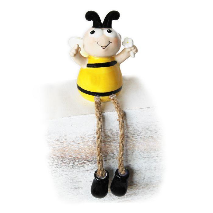 dekorace Včela 9/18cm nohatá, porcelán