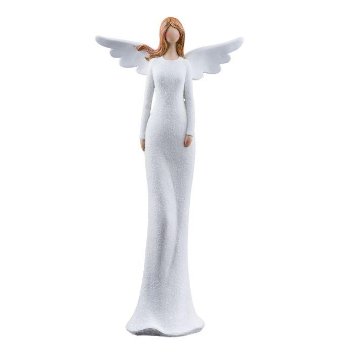 anděl 17cm bílý, poresin