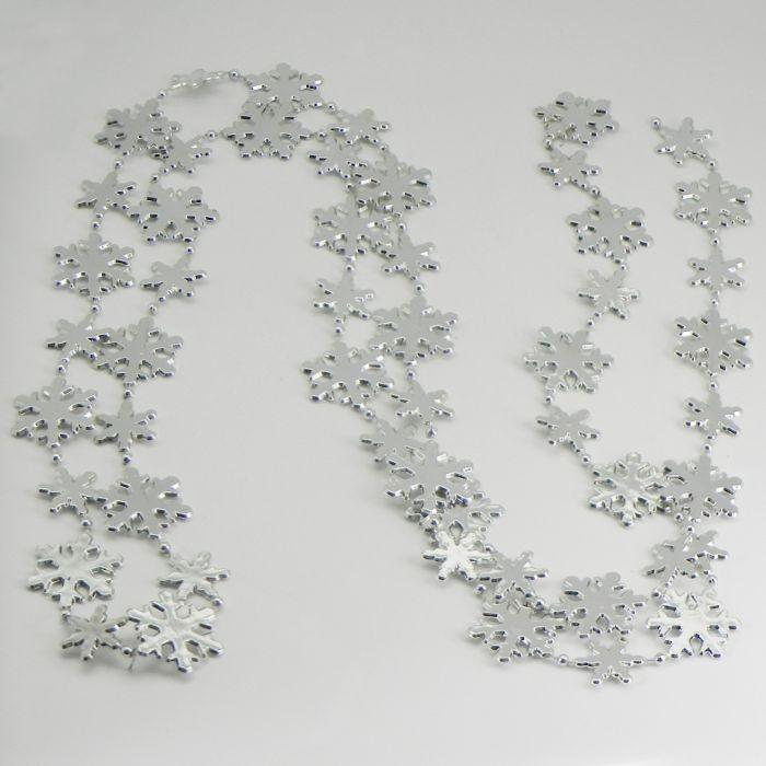 řetěz  1,8m, vločky 2-3cm, PVC stříbrný