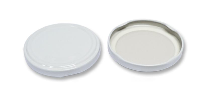 víčko TWIST  82-10ks bílé+zl., na sklen.720ml.CZ