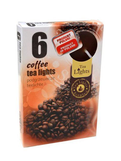 svíčka  6ks čajová, COFFEE, d3,8x1,5cm
