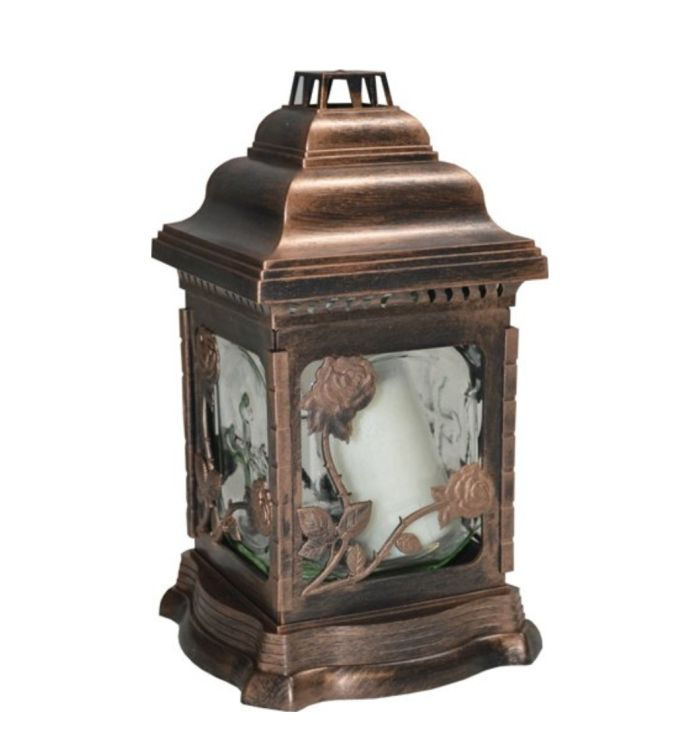 svíčka  1ks LAMPION LA207-RŮŽE 26cm, 100g, hřbit.