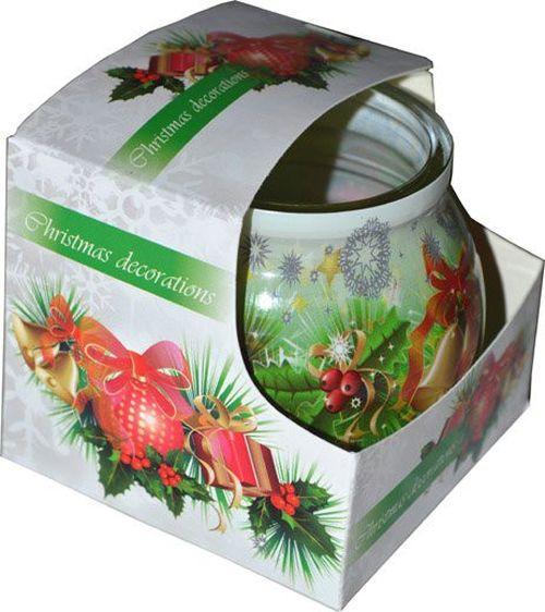 svíčka  1ks CHRISTMAS DECORATIONS ve skle, DEO 80g