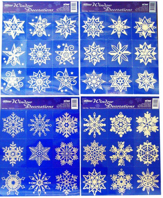 dekorace vánoční 25x24cm na okna,svítící