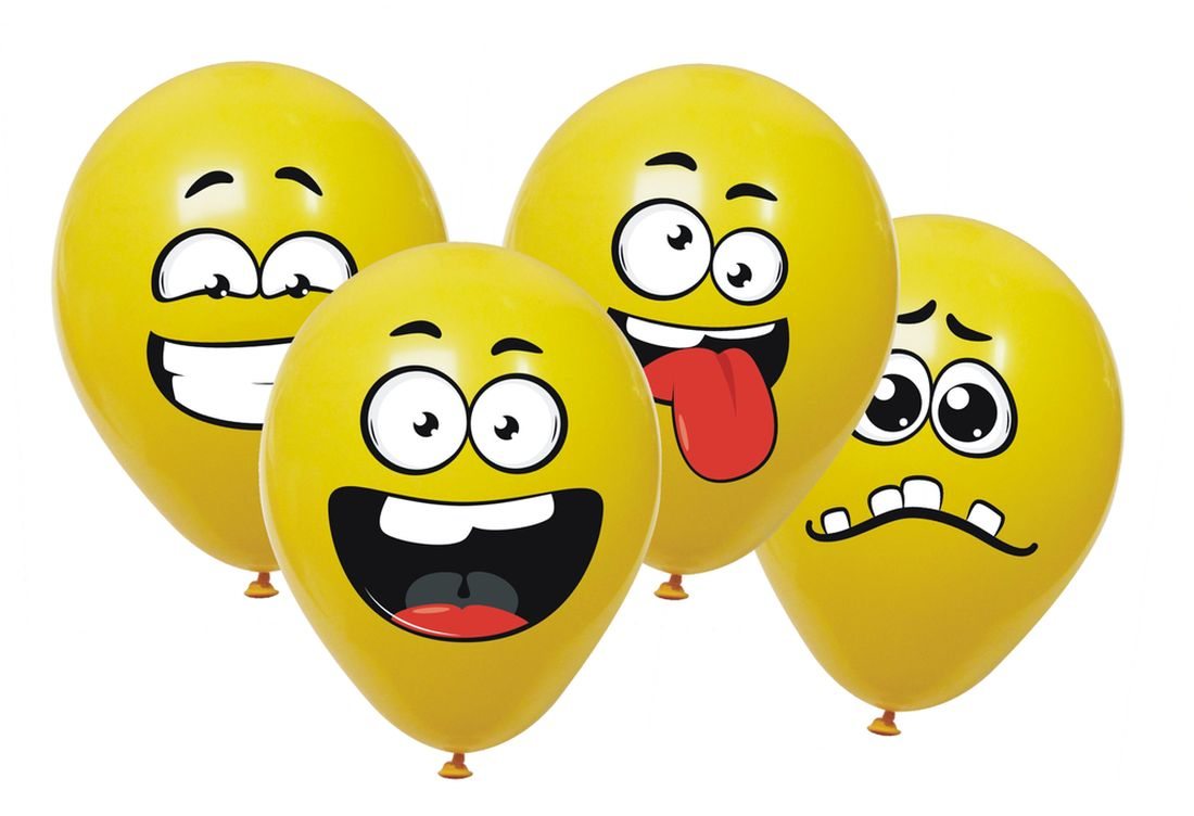 balónky 6ks SMAJLÍCI MINKY