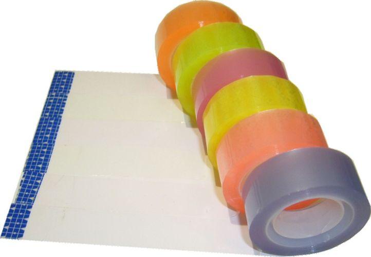 páska lepící 1,8cmx20m, 6ks, barevná čirá