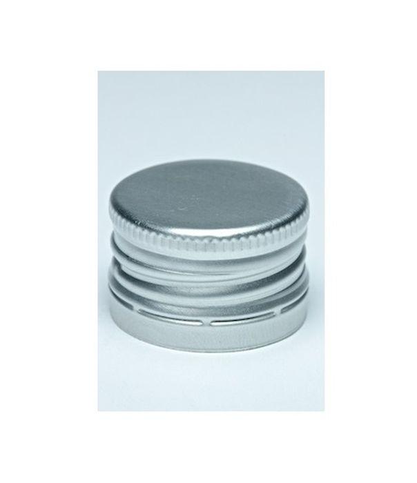 zátka lahví SPIRIT-šroub.28x18,stříbrná(Al+korek)