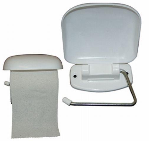 držák WC papíru s klapkou,bílý