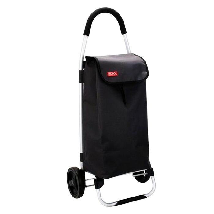taška s kol. 40l, PRAGA černá, (30kg), kov.rám