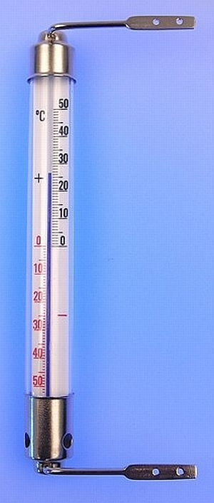 teploměr okenní 200mm,kov.obj.,-50+50C