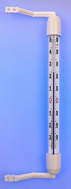 teploměr okenní 190mm,plast.obj.-35+50