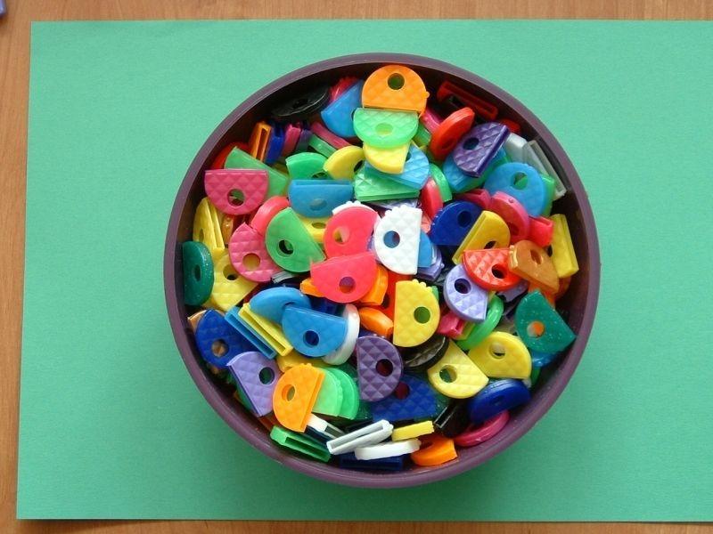 rozlišovač klíčů,plast.půlkruh