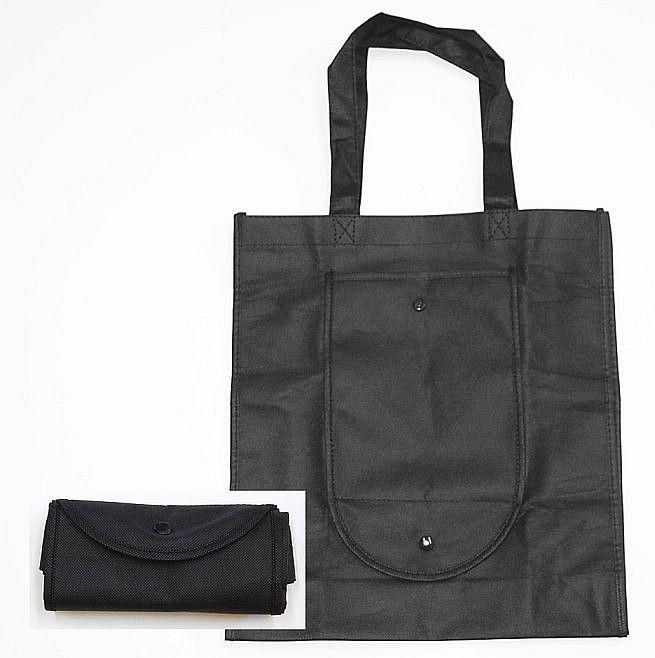 taška 11,0l nákup., 36x10x32cm, černá, sklád., textil