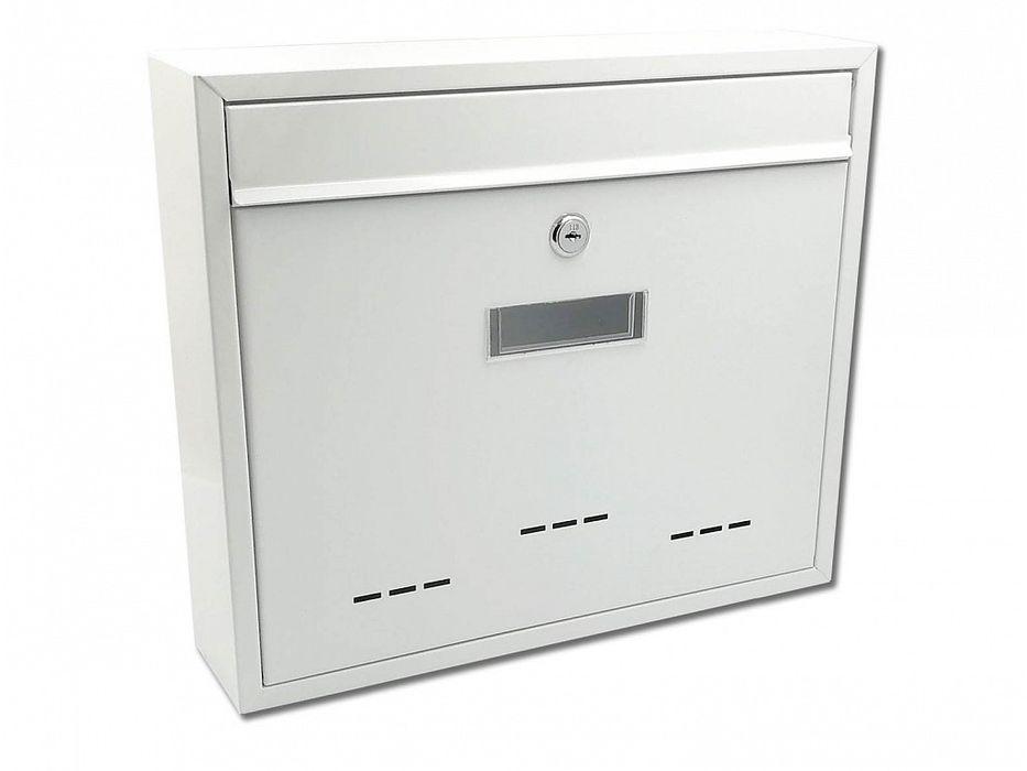schránka RADIM V bílá pošt. 36x31x9cm, kov