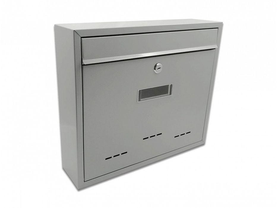 schránka RADIM V šedá(stříbr.) pošt. 36x31x9cm, kov