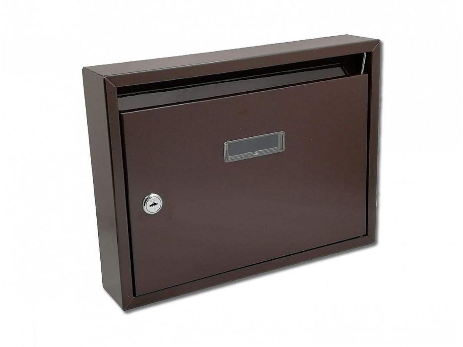 schránka PAVEL hnědá pošt. 32x24x6cm, kov
