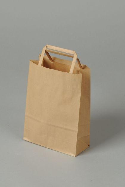 taška papír, 32x23x10cm, EKO, nebarvená