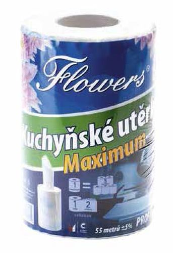 utěrky kuch.2vr.,55m, Flowers MAXIMUM PROFI