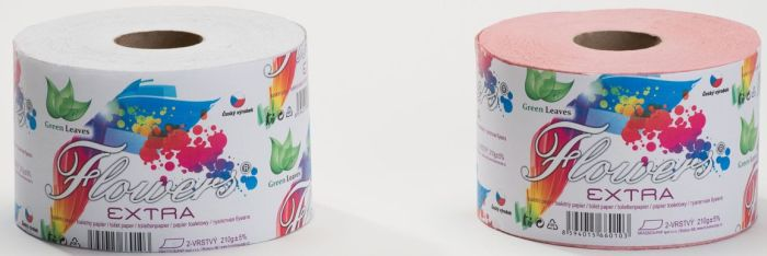 papír toal.2vr.,210g, 1role, 55m,Flowers Extra solo, recykl.