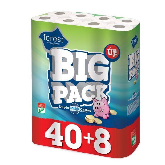 papír toal.2vr.,15,5m, 40+8rolí, BIG PACK