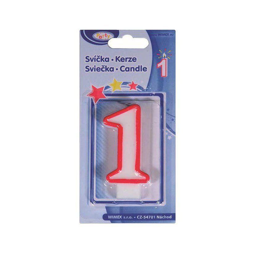 svíčka 1, číslová, 75mm, 1ks