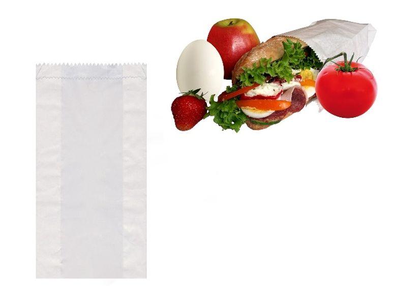 sáčky 10+5x22cm-100ks-svačina-papír