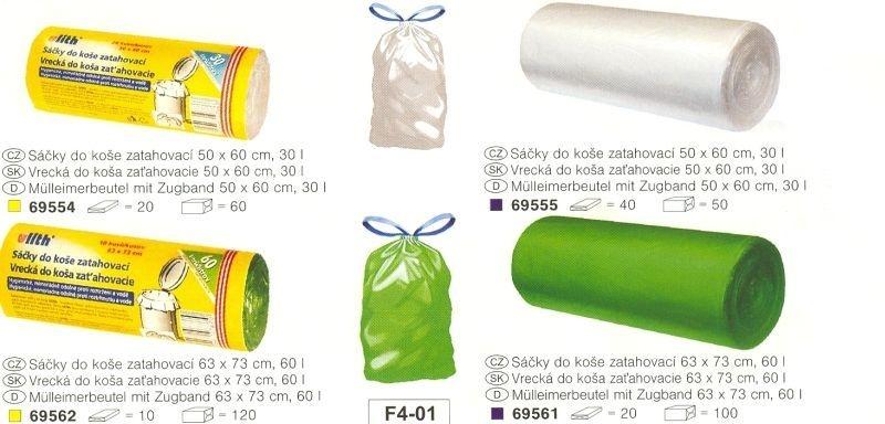 sáčky odp. 30l-20ks-50x60cm zatahovací