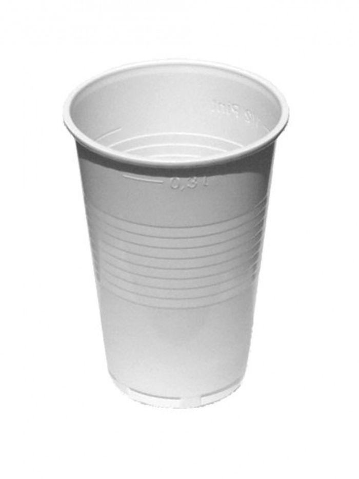 kelímek 3,0dl-50ks-bílý,transp. (PP)