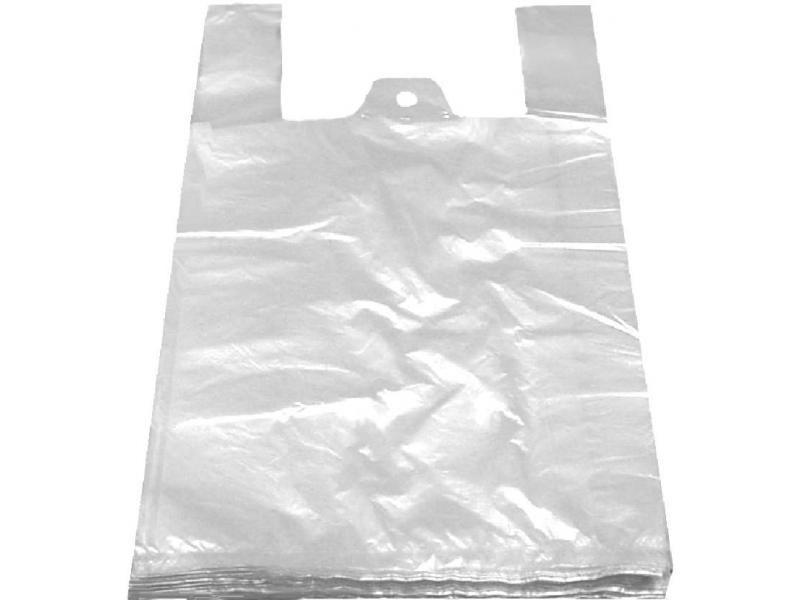 taška PE, 12kg/ 50ks, 30+20x60cm, BÍLÁ, pevná