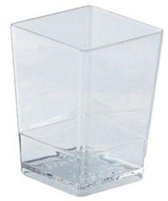 pohárek  60ml čtverc.40x40x55mm,plast