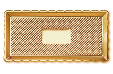 tácek 35x15cm zlatý, plast