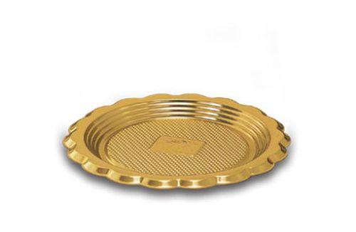tácek d12cm zlatý, plast