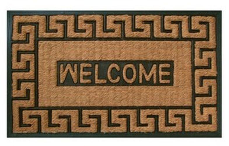 rohož  75x45cm LYRE-Welcome, guma+mořská tráva