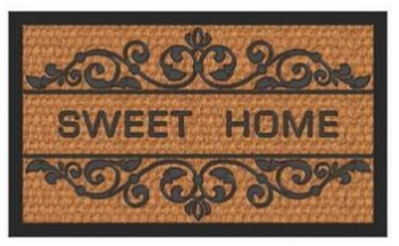 rohož  60x40cm, BANDORE-Sweet Home, guma+moř.tráva