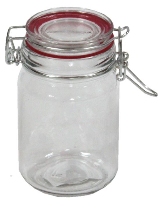 dóza 0,30l sklo  d7x11,5cm patentní