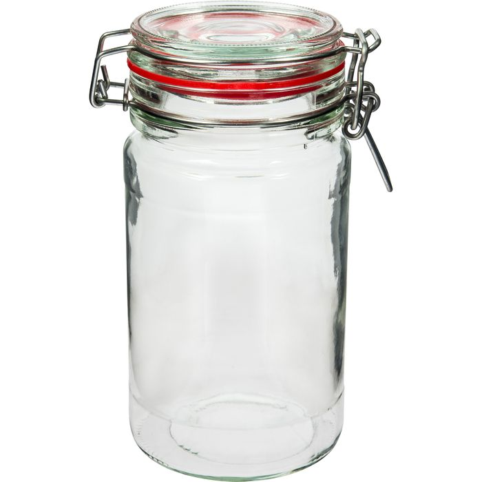 dóza 0,80l sklo SLIM, patent. uzávěr