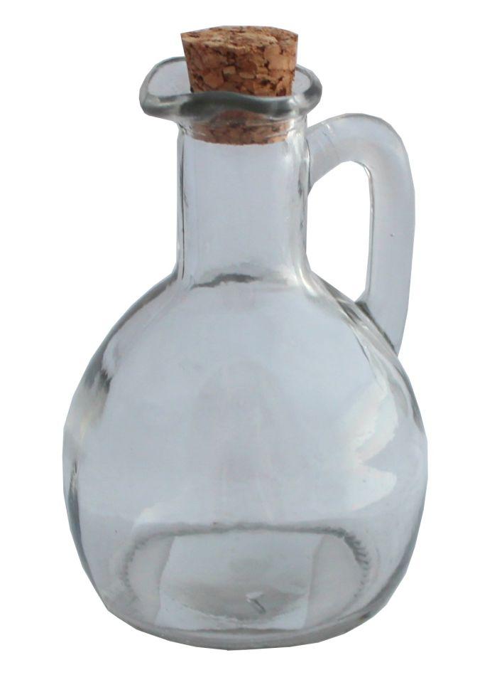 láhev 0,15l sklo s ouškem+kork.zátka, ocet/olej